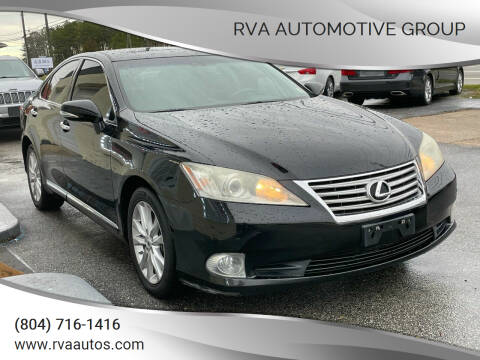 2012 Lexus ES 350 for sale at RVA Automotive Group in North Chesterfield VA
