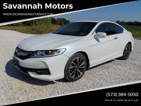 2017 Honda Accord for sale at Savannah Motors in Elsberry MO