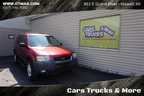2003 Ford Escape for sale at Cars Trucks & More in Howell MI