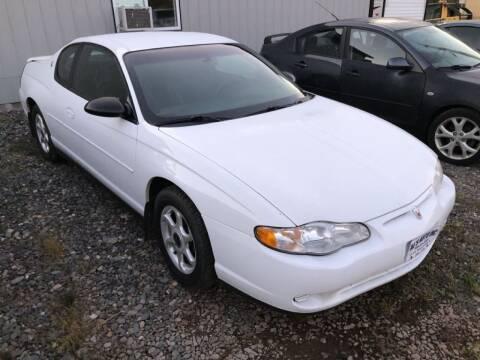 2000 Chevrolet Monte Carlo for sale at Al's Auto Inc. in Bruce Crossing MI