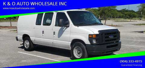 2012 Ford E-Series Cargo for sale at K & O AUTO WHOLESALE INC in Jacksonville FL