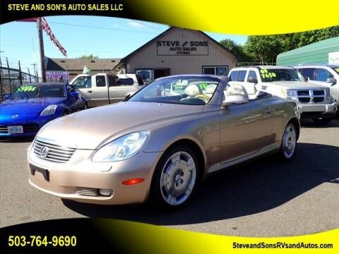 2004 Lexus SC 430 for sale at Steve & Sons Auto Sales in Happy Valley OR