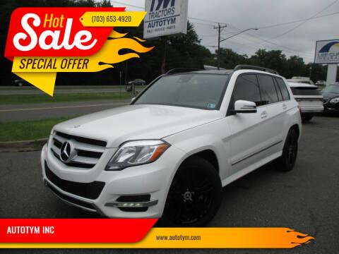 2015 Mercedes-Benz GLK for sale at AUTOTYM INC in Fredericksburg VA