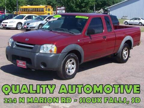 2004 Nissan Frontier for sale at Quality Automotive in Sioux Falls SD