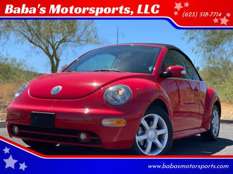 2005 Volkswagen New Beetle Convertible for sale at Baba's Motorsports, LLC in Phoenix AZ
