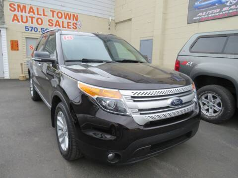 2013 Ford Explorer for sale at Small Town Auto Sales in Hazleton PA
