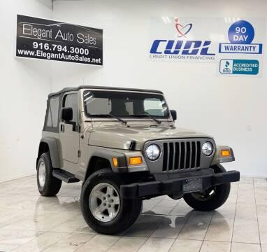 2005 Jeep Wrangler for sale at Elegant Auto Sales in Rancho Cordova CA