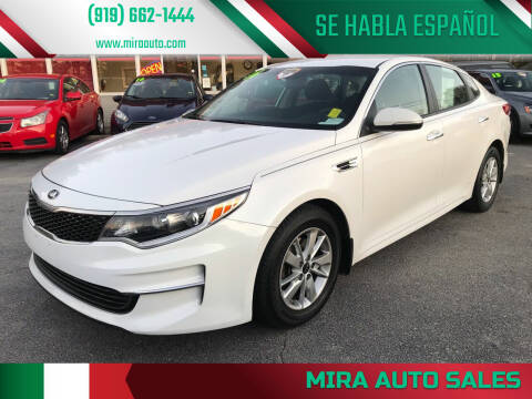 2016 Kia Optima for sale at Mira Auto Sales in Raleigh NC