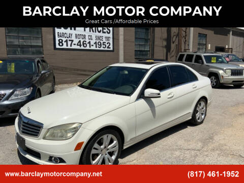2010 Mercedes-Benz C-Class for sale at BARCLAY MOTOR COMPANY in Arlington TX