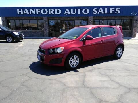 2013 Chevrolet Sonic for sale at Hanford Auto Sales in Hanford CA