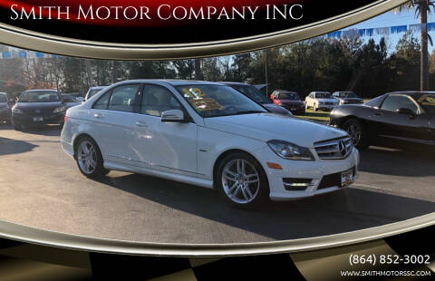 2012 Mercedes-Benz C-Class for sale at Smith Motor Company INC in Mc Cormick SC