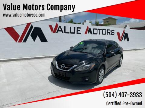 2016 Nissan Altima for sale at Value Motors Company in Marrero LA