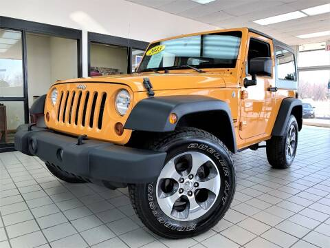 2013 Jeep Wrangler for sale at SAINT CHARLES MOTORCARS in Saint Charles IL
