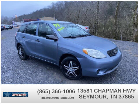 2007 Toyota Matrix for sale at Union Motors in Seymour TN