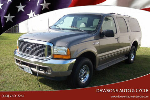 2002 Ford Excursion for sale at Dawsons Auto & Cycle in Glen Burnie MD