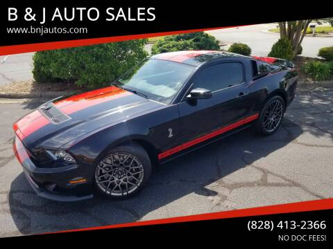 2013 Ford Shelby GT500 for sale at B & J AUTO SALES in Morganton NC