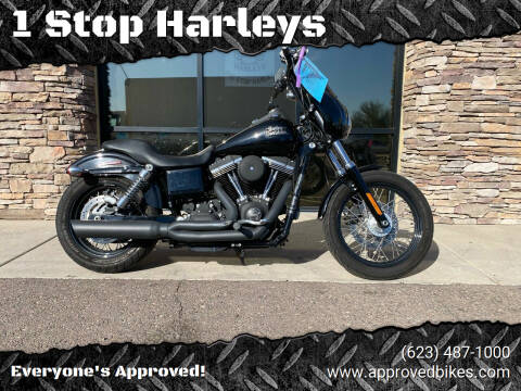 2015 Harley Davidson Street Bob for sale at 1 Stop Harleys in Peoria AZ
