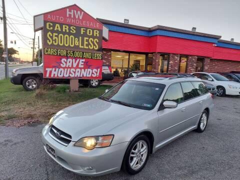 2005 Subaru Legacy for sale at HW Auto Wholesale in Norfolk VA