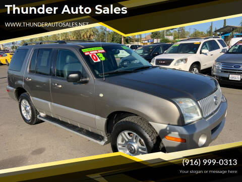 2003 Mercury Mountaineer for sale at Thunder Auto Sales in Sacramento CA