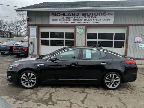2015 Kia Optima for sale at Richland Motors in Cleveland OH