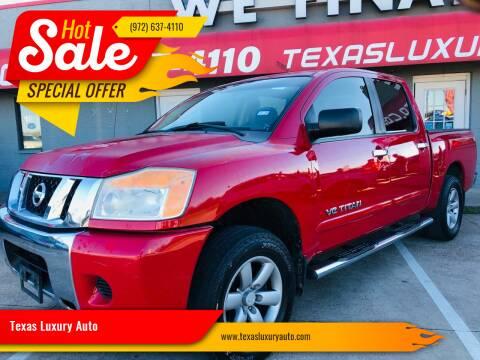 2008 Nissan Titan for sale at Texas Luxury Auto in Cedar Hill TX