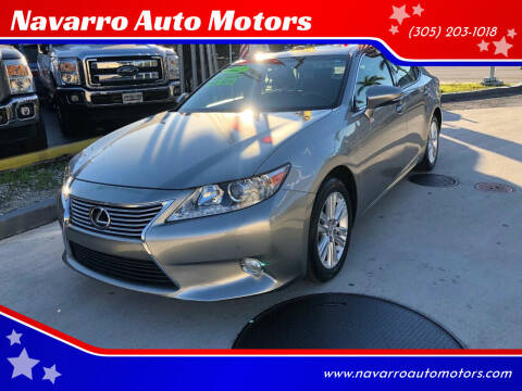 2015 Lexus ES 350 for sale at Navarro Auto Motors in Hialeah FL