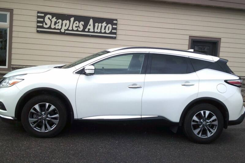 2017 Nissan Murano for sale at STAPLES AUTO SALES in Staples MN