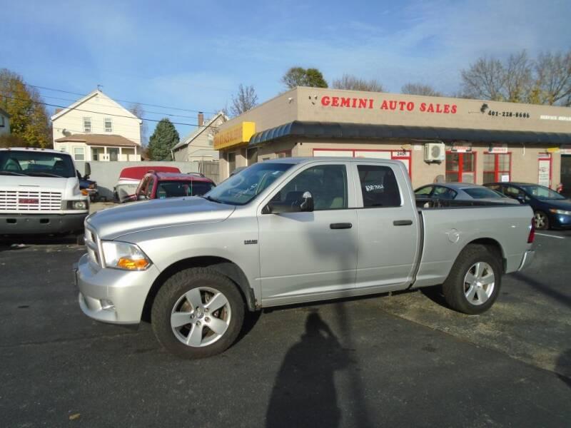 2012 RAM Ram Pickup 1500 for sale at Gemini Auto Sales in Providence RI