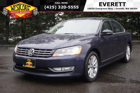 2012 Volkswagen Passat for sale at West Coast Auto Works in Edmonds WA