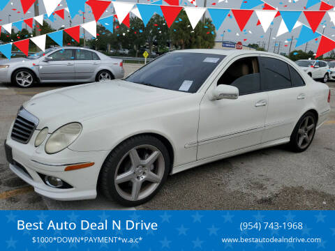 2009 Mercedes-Benz E-Class for sale at Best Auto Deal N Drive in Hollywood FL