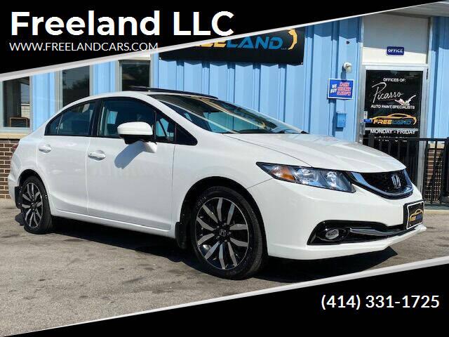 2015 Honda Civic for sale at Freeland LLC in Waukesha WI