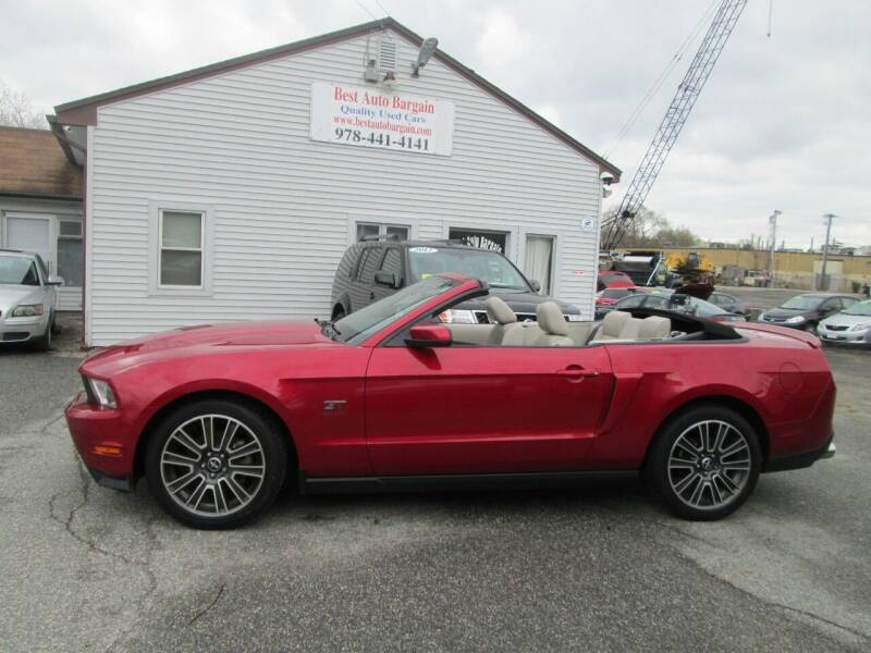 2010 Ford Mustang for sale at BEST AUTO BARGAIN inc. in Lowell MA