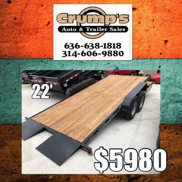 2019 Delta 22' Tilt Equipment  for sale at CRUMP'S AUTO & TRAILER SALES in Crystal City MO