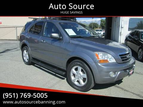 2008 Kia Sorento for sale at Auto Source in Banning CA
