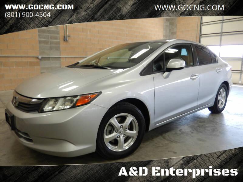 2012 Honda Civic for sale at A&D Enterprises in Spanish Fork UT