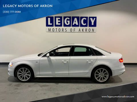 2014 Audi A4 for sale at LEGACY MOTORS OF AKRON in Akron OH