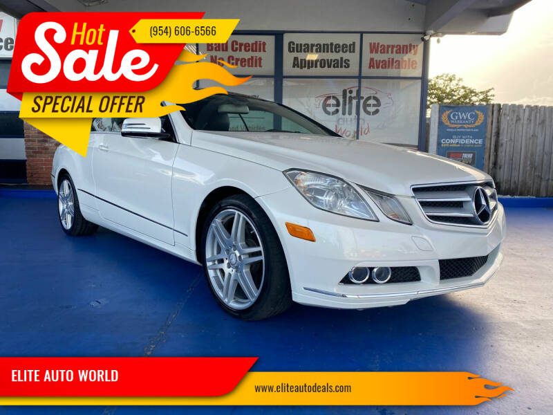 2010 Mercedes-Benz E-Class for sale at ELITE AUTO WORLD in Fort Lauderdale FL
