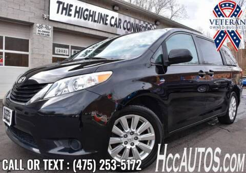 2017 Toyota Sienna for sale at The Highline Car Connection in Waterbury CT