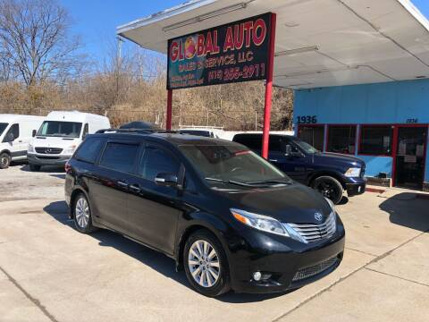 2015 Toyota Sienna for sale at Global Auto Sales and Service in Nashville TN