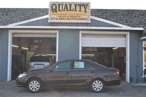 2002 Toyota Camry for sale at Quality Pre-Owned Automotive in Cuba MO