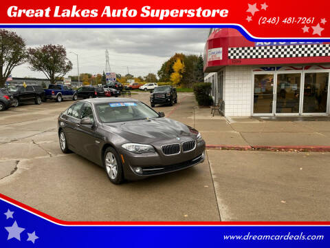 2012 BMW 5 Series for sale at Great Lakes Auto Superstore in Pontiac MI