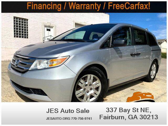 2012 Honda Odyssey for sale at JES Auto Sales LLC in Fairburn GA