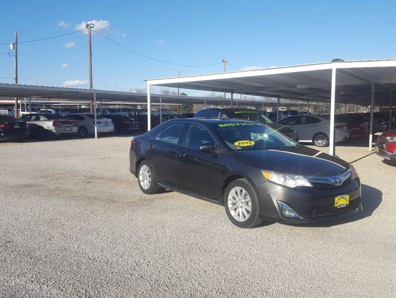2012 Toyota Camry for sale at Bostick's Auto & Truck Sales LLC in Brownwood TX