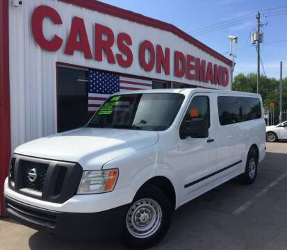 2015 Nissan NV Passenger for sale at Cars On Demand 3 in Pasadena TX