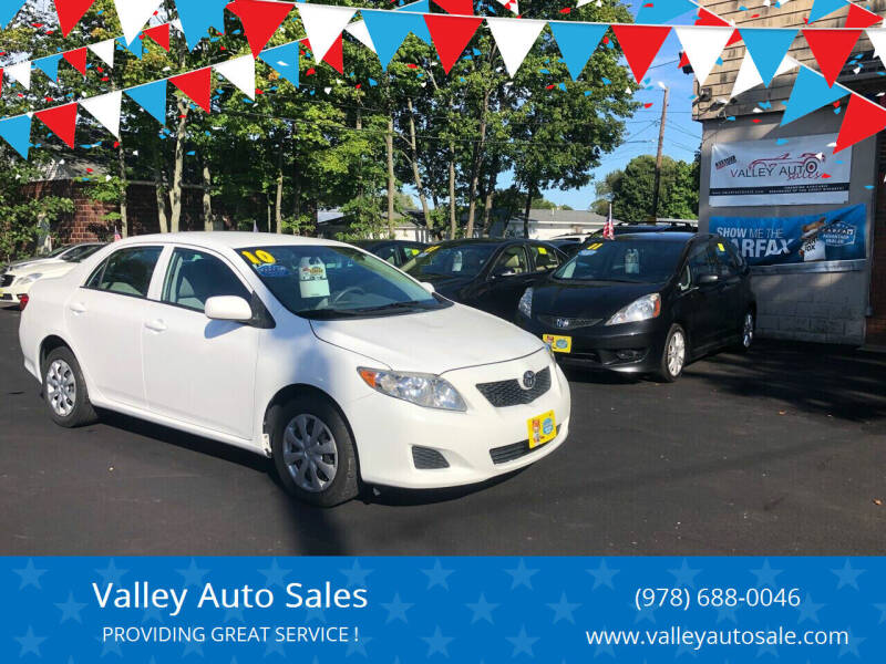 2010 Toyota Corolla for sale at VALLEY AUTO SALES in Methuen MA