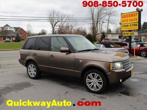 2010 Land Rover Range Rover for sale at Quickway Auto Sales in Hackettstown NJ
