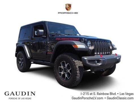 2018 Jeep Wrangler for sale at Gaudin Porsche in Las Vegas NV