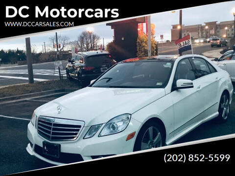2010 Mercedes-Benz E-Class for sale at DC Motorcars in Springfield VA