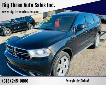 2015 Dodge Durango for sale at Big Three Auto Sales Inc. in Detroit MI