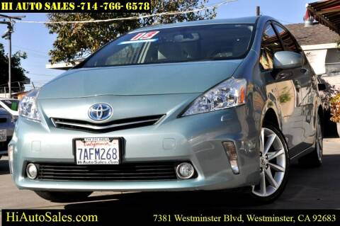 2013 Toyota Prius v for sale at Hi Auto Sales in Westminster CA